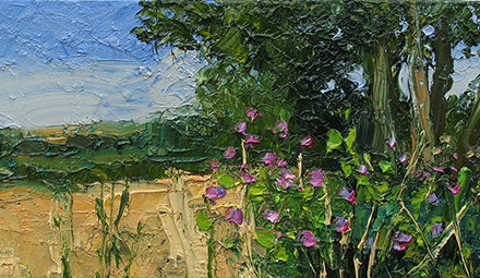 Cornfield and willow  30 x 60cm